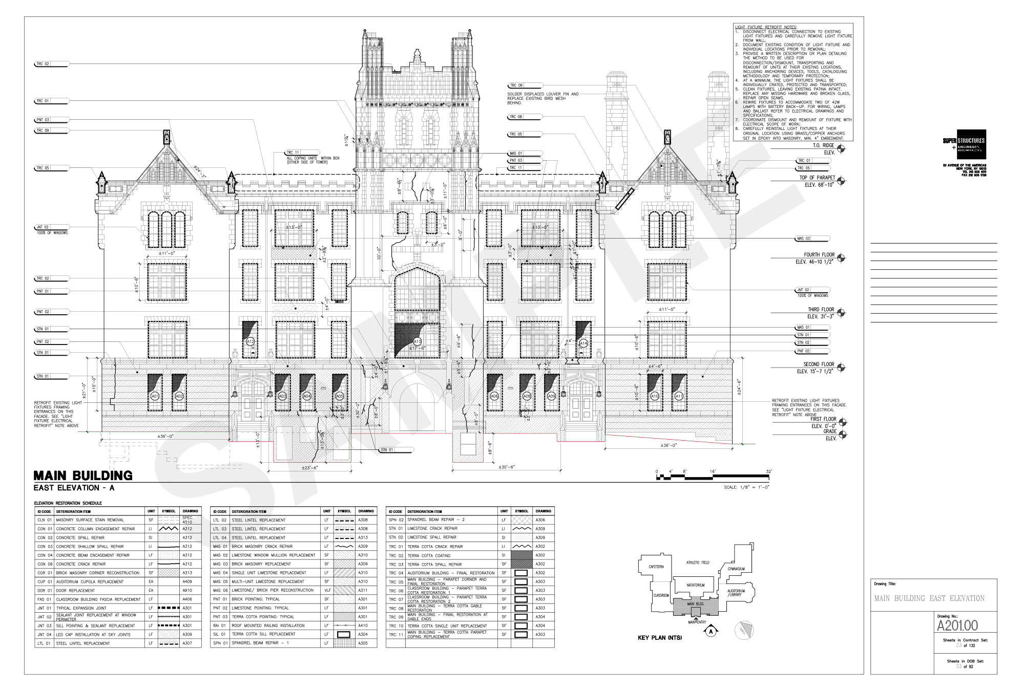 restoration design approach superstructures view drawing